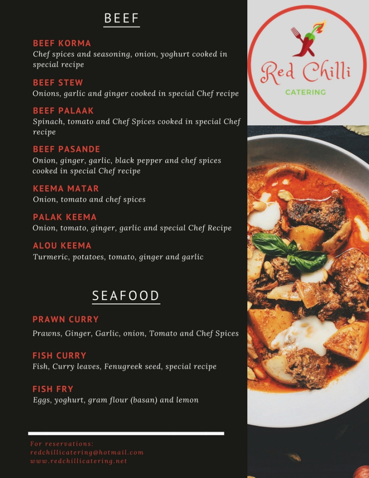 Red Chilli Menu with Different Photos 4