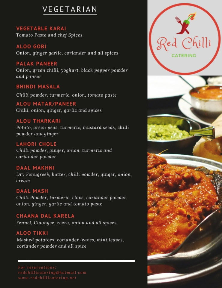 Red Chilli Menu with Different Photos 5