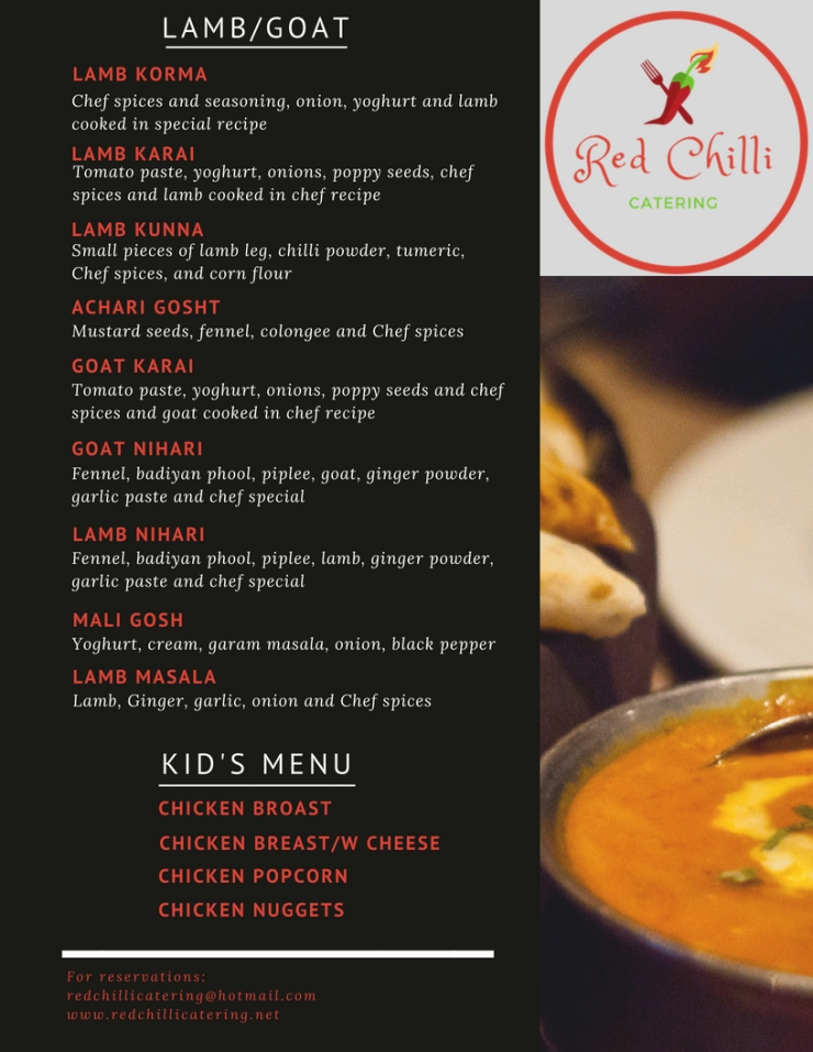 Red Chilli Menu with Different Photos 7