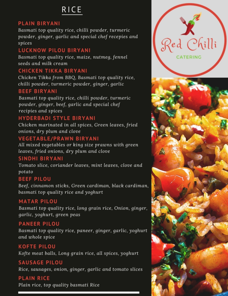 Red Chilli Menu with Different Photos 8