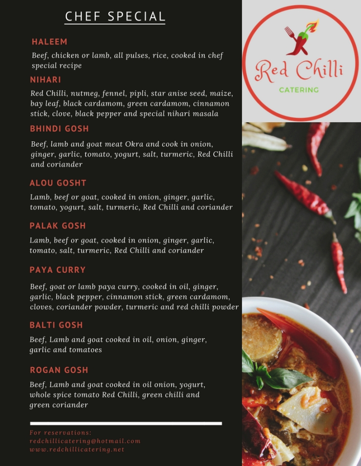 Red Chilli Menu with Different Photos2